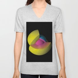 3D Art Sphere 5 - Cutting To The Core Series Unisex V-Neck