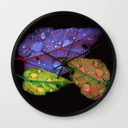 Leaf Effect Wall Clock