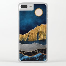 Midnight Desert Moon Clear iPhone Case