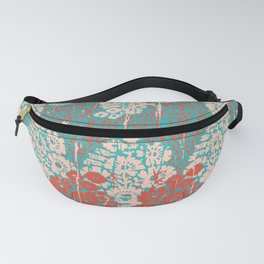 floral paisley in vermillion and teal Fanny Pack