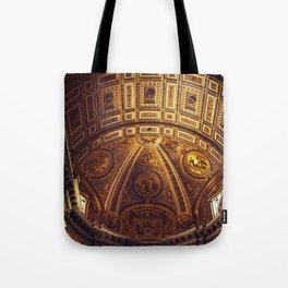 Golden Roman Basilica Tote Bag