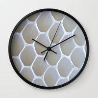 honeycomb Wall Clocks featuring Honeycomb by Ian Bevington