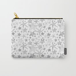 Grey Starfish Pattern - Light Carry-All Pouch