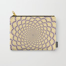 Lavender and Gold Sundial Spiral Carry-All Pouch