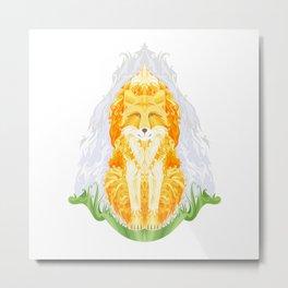 Spirit of autumn. fox Metal Print