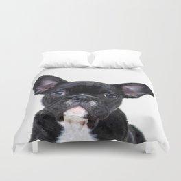 French bulldog portrait Duvet Cover