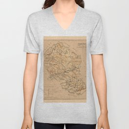 Map Of Cordoba 1800 Unisex V-Neck
