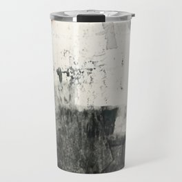 Peace and Quiet [1]: a pretty, minimal abstract piece in gray and peach by Alyssa Hamilton Art Travel Mug