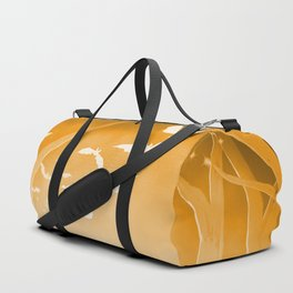 Dark Forest at Dawn in Amber Duffle Bag