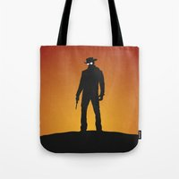 django Tote Bags featuring Django by Nick Kemp