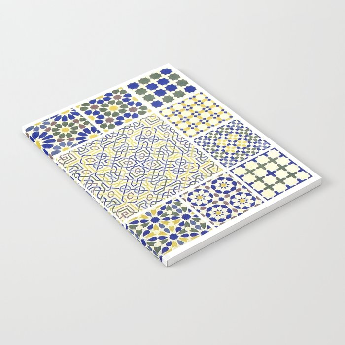 Middle Eastern Tile Patterns In Blue And Yellow Notebook By Yaklab Best Middle Eastern Patterns