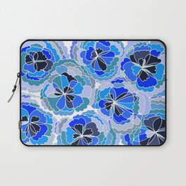 Floral Blue Laptop Sleeve