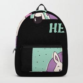 Unicorn Says Hello Unicorns Gift Backpack