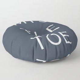 Mistletoe Christmas Type Print Floor Pillow