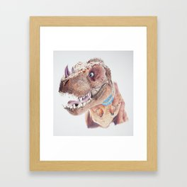 Bloodfen Raptor Dinosaur Framed Art Print