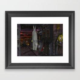 Schlepping Towards Bethlehem Framed Art Print