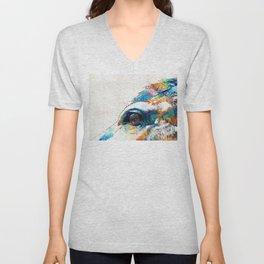 Colorful Horse Art - A Gentle Sol - Sharon Cummings Unisex V-Neck