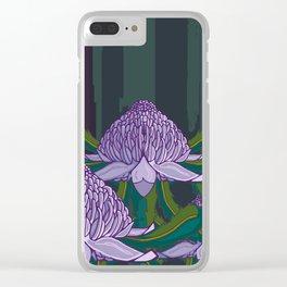 White Waratah Forest 2019 Clear iPhone Case