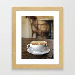 cafe latte Framed Art Print