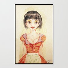 Miss Waitress Pin Up Canvas Print