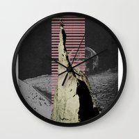 meditation Wall Clocks featuring meditation by Ashley Moye