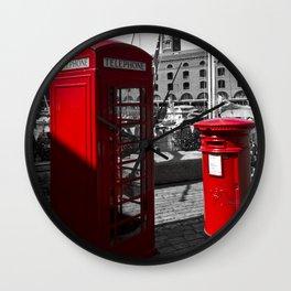 Phone and Post Box Wall Clock