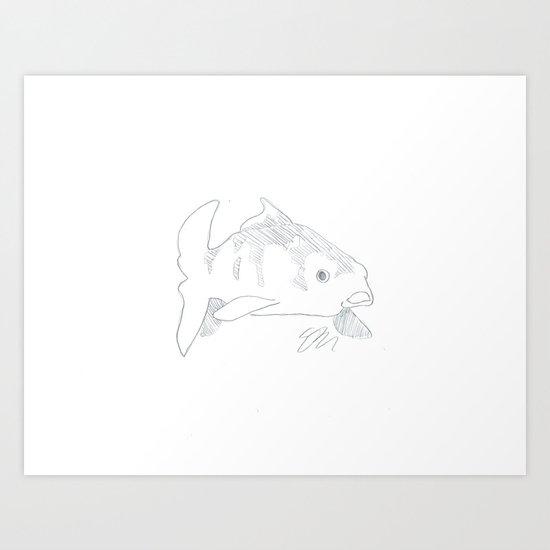 KOI LINE ART Art Print