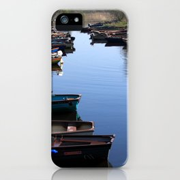 Fishing Boat Row iPhone Case
