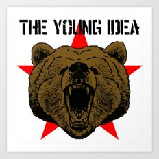 The Young Idea - Grizzly Logo Art Print