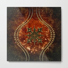 Wonderful decorative celtic cross Metal Print