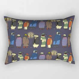 Victorian Penguins Rectangular Pillow