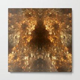 Fractal Art - Gold mine Metal Print