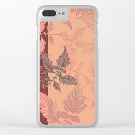 Tomatoes leaves in coral Pantone palette Clear iPhone Case