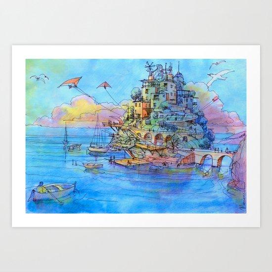 Paesaggio di fantasia Art Print