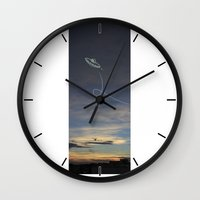 ufo Wall Clocks featuring UFO by Creative Soul