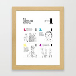 The Illuminated Mixtapes, Edition 1 Framed Art Print