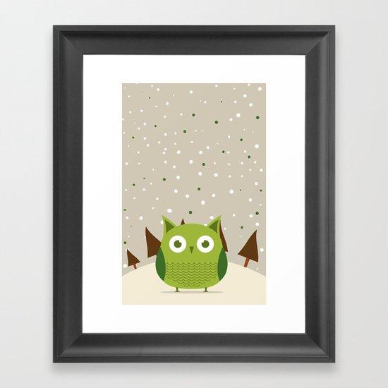 Cute owl Framed Art Print