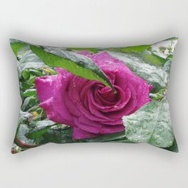 Rose After the Rain Rectangular Pillow