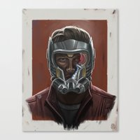 starlord Canvas Prints featuring STARLORD PORTRAIT by Don Seaworth