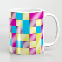 tetris Mugs featuring Tetris blanket by Roberlan Borges