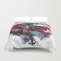 thor Duvet Covers featuring Thor by Isaak_Rodriguez