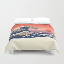 The Great Wave of Shiba Inu Duvet Cover
