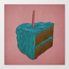 Happy Birthday! (blue) Canvas Print