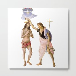 Baptism of Christ by St. John the Baptist Metal Print