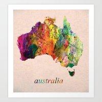 australia Art Prints featuring Australia  by mark ashkenazi