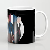 evil dead Mugs featuring Evil Dead meets Doctor Who by DocPastor