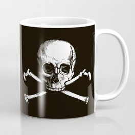 Skull and Crossbones | Jolly Roger | Pirate Flag | Black and White | Coffee Mug