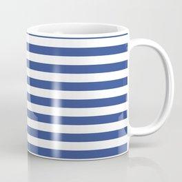 Stripe blue & white horizontal Coffee Mug
