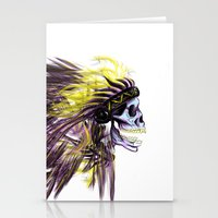 native american Stationery Cards featuring Native by @Subliminal_society