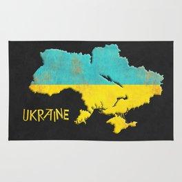 Ukraine Vintage Map Rug